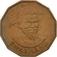 Swaziland, Sobhuza II, Cent, 1974, British Royal Mint, TTB+, Bronze, KM:7 - Swaziland