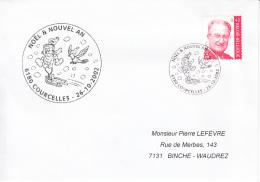 Enveloppe (2002-10-26, 6180 Courcelles) - Noël - PL - Poststempels/ Marcofilie