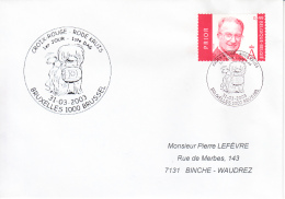 Enveloppe (2003-03-31, Bruxelles 1000 Brussel) - Croix-Rouge - PL - Poststempels/ Marcofilie