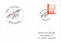 Enveloppe (2004-09-25, 6840 Hamipré) - Nature, Papillon - PL - Poststempels/ Marcofilie