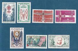France Timbres De 1962 Neufs ** Parfait  N°1338 A 1344 - France