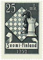 Ref. 565674 * HINGED *  - FINLAND . 1952. 10th CHESS HELSINKI TOURNAMENT. 10 TORNEO DE AJEDREZ EN HELSINKI - Finland