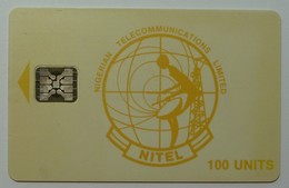 NIGERIA - Chip SC4 - Nitel - 100 Units - Yellow Logo - Used - Nigeria