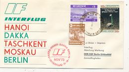 DACCA / Bangladesh - 1973 , INTERFLUG  Mit IL 18 Nach Berlin - Bangladesch