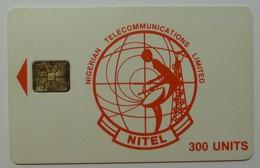 NIGERIA - Chip SC6 - Nitel - 300 Units - Red Logo - Used - Nigeria