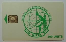 NIGERIA - Chip SC6 - Nitel - 500 Units - Green Logo - Used - Nigeria