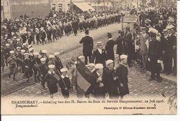 BRASSCHAAT: Inhaling Van Den H. Baron Du Bois De Nevele Burgemeester, 12 Juli 1908  5. Jongensschool - Brasschaat