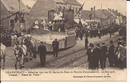 """BRASSCHAAT: Inhaling Van Den H. Baron Du Bois De Nevele Burgemeester, 12 Juli 1908  6. Tooneel """"kunst En Vrede"""" - Brasschaat"""