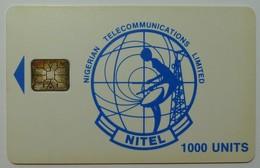 NIGERIA - Chip SC6 - Nitel - 1000 Units - Blue Logo - Used - Nigeria