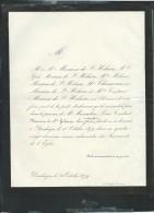 DUNKERQUE LE 24/10/1879 , Faire Part Du Décés De  LOUIS - Constant Meurisse De Saint Hilaire - Pb15003 - Avvisi Di Necrologio