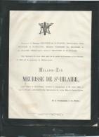 Dunkerque Le 27/04/1881  , Faire Part Du Décés De Melanie-Zoé Meurisse De Saint Hilaire   - Pb15009 - Avvisi Di Necrologio