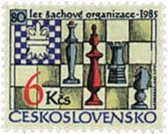 Ref. 30472 * NEW *  - CZECHOSLOVAKIA . 1985. 80th ANNIVERSARY OF THE CHESS FEDERATION. 80 ANIVERSARIO DE LA FEDERACION D - Czechoslovakia