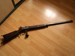 Carabine De Precision Suisse à Poudre Noire 1830-1850 Avec Dioptre,+ 5kgs!!!! - Armi Da Collezione
