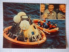 CPSM - LA CONQUETE DE LA LUNE PAR APOLLO XI  - L'AMERISSAGE DE LA CAPSULE DANS LE PACIFIC 1969 - PHOTO NASA  - R2481 - Astronomie