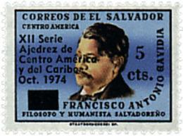Ref. 86752 * NEW *  - EL SALVADOR . 1974. 12th CHESS CHAMPIONSHIP OF CENTRAL AMERICA AND CARIBBEAN. 12 CAMPEONATO DE AJE - El Salvador