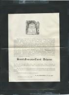 BROXEELE Le  15/11/1887 Décés De  Benoit-françois-cornil Dehaene    - Pb15017 - Avvisi Di Necrologio