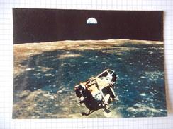 CPSM - LA CONQUETE DE LA LUNE PAR APOLLO XI  - LE LEM VIENT DE QUITTER LA LUNE  1969 - PHOTO NASA  - R2482 - Astronomie