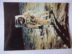 CPSM - LA CONQUETE DE LA LUNE PAR APOLLO XI  - ALDRIN SUR LA LUNE - PHOTO PAR ARMSTRONG  1969 - PHOTO NASA  - R2483 - Astronomie