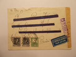 Marcophilie  Cachet Lettre Obliteration Timbre - ESPAGNE - Censure 1937 (990) - Marques De Censures Républicaines