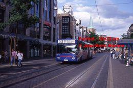 Reproduction Photographie D'un Bus Mercedes Ligne 345 BO-Dahlhausen à Bochum En Allemagne En 1993 - Repro's