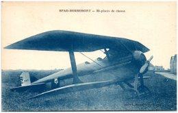 SPAD-HERBEMONT - Bi-places De Chasse  (Recto/Verso) - 1919-1938: Fra Le Due Guerre
