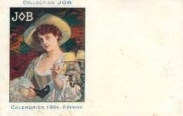 Publicité Papier à Cigarettes JOB - Illustrateur P. Gervais, Calendrier 1904, Collection JOB (toilée) - Publicité