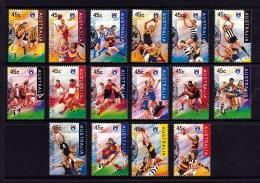 Australia 1996 Football AFL Set Of 16 Used - 1990-99 Elizabeth II