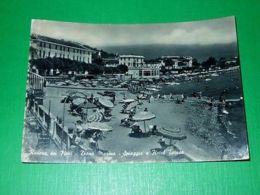 Cartolina Riviera Dei Fiori - Diano Marina - Spiaggia E Hotel Teresa 1956 - Imperia