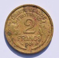 Pièce De Monnaies France - 2 Franc Morlon - 1931 - France