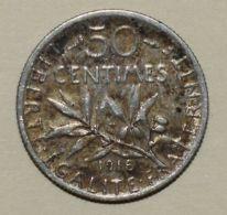 Pièce De Monnaies France - 50 Centimes Semeuse Argent 1918 - France