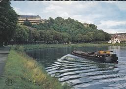 08----FUMAY---la Meuse Et L'hôtel Des Roches--(péniche)-voir 2 Scans - Fumay