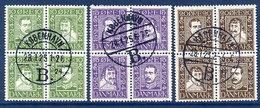 DENMARK 1924 Post Office Tercentenary In Blocks, Used. Michel 131-42. - 1913-47 (Christian X)