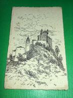 Cartolina Aosta - Castello Di St. Pierre - Illustratore R. Silvestro 1935 Ca - Non Classificati