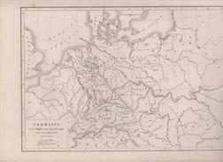 CARTE GERMANIA  DRESSEE PAR L DUSSIEUX 1849 D'APRES DANVILLE ANSART SPRUNNER PETIGNY - Landkarten