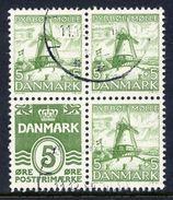 DENMARK 1937 Hansen  5ø Booklet Pane Used.  Michel H-Blatt 10, Facit H1 278+102. - Used Stamps