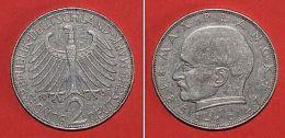 Pièce De Monnaies Allemagne - 2 Deutsche Mark Max Planck - 1958 G - Monnaies