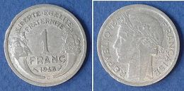 Monnaies Ancienne - 1 Franc Morlon Aluminium 1945 C - France