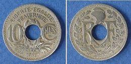 Monnaies Ancienne - 10 Centimemes Lindauer 1917 - France