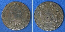 Monnaies Ancienne - 2 Centimes Napoléon III Tête Laurée 1862 K - France