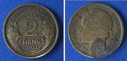 Monnaies Ancienne - 2 Franc Morlon 1932 - France