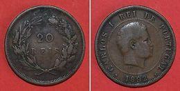 Monnaies Portugal Carlos I - 20 Reis 1892 - Monnaies