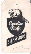 Canadian Pacific Steamships  Empress Of France Baggage Ticket - Trade Cards