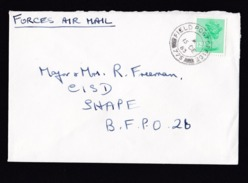 UK: Airmail Field Post Cover, 1983, 1 Stamp Machin, Forces Air Mail, Military (roughly Opened) - 1952-.... (Elizabeth II)