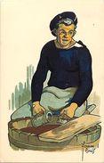 -themes Div- Ref R759- Bateaux - Marine Militaire - Illustrateurs -illustrateur Fernan Louis - Marins -marin - - Warships