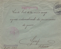 Prisoner Of War Cover From A POW In Germany, Limburg Marked Heeressache Und Posted Limburg 11.8.1915 To Red Cross POW Ag - Militares
