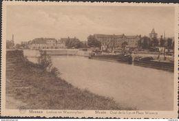 Menen Menin Loskaai En Wautersplaats Menin Quai De La Lys Et Place Wauters Leie West-Vlaanderen - Menen