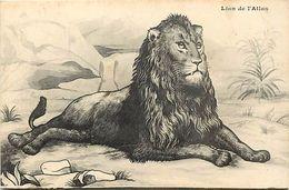 -themes Div- Ref R746- Illustrateurs - Illustrateur Dessin Lion De L Atlas  - Carte Bon Etat  - - Lions