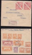 Paraguay 1936 Registered Airmail Cover To ROSENHEIM Germany Tobacco Stamps - Paraguay