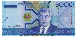 TURKMENISTAN 5000 MANAT 2005 Pick 21 Unc - Turkmenistan