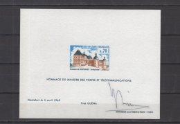 """France - Epreuve De Luxe Du N° 1596 """" Avec Hommage """"  De Yves Guena Et Signature - Prove Di Lusso"""